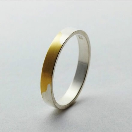 Torafu Architects 同款 戒指 Gold Wedding Ring 18K金镀银 配证
