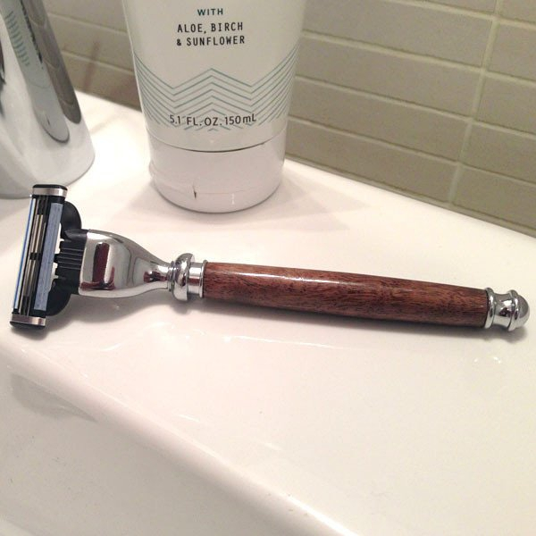 Black Walnut Wood Razor Handle的图片