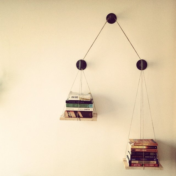 Balance Scale Bookshelf by Cush Design Studio