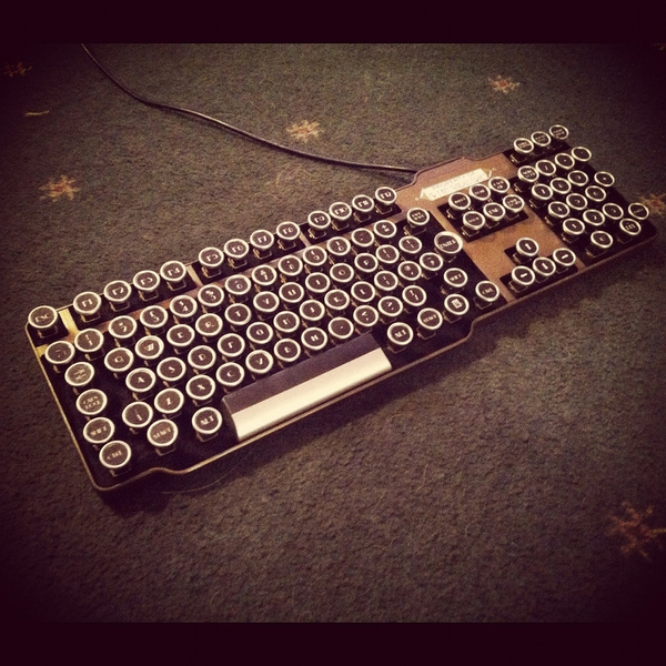 Fine Handcrafted Bioshock Art Deco Steampunk Keyboard的图片
