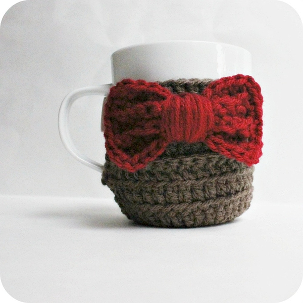 Coffee Mug Tea Cup Cozy Eleventh Doctor Who red bow tie sci fi Fathers Day