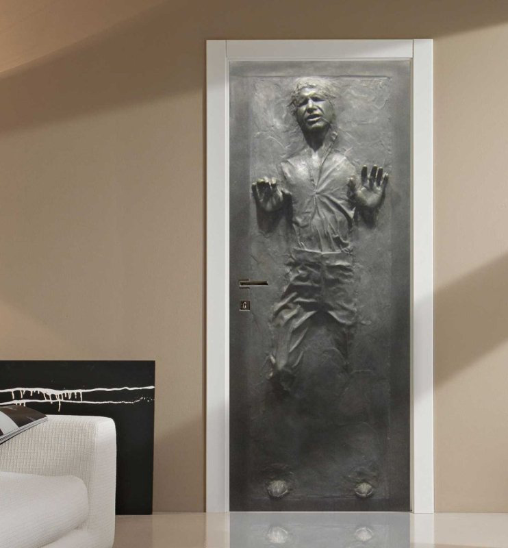 星球大战墙贴Han Solo in Carbonite Star Wars Fathead-style Life-size Wall Decal Sticker