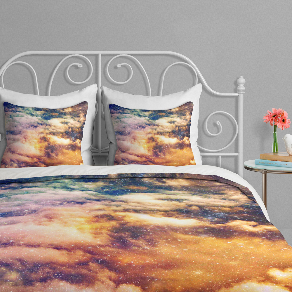 Cosmic Duvet Cover by Shannon Clark - $199
