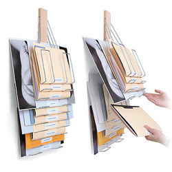 Universal Vertical Filing Rack™ By Westerville Design. File With Style. This Flexible Wall Mounted Filing System Hold...的图片