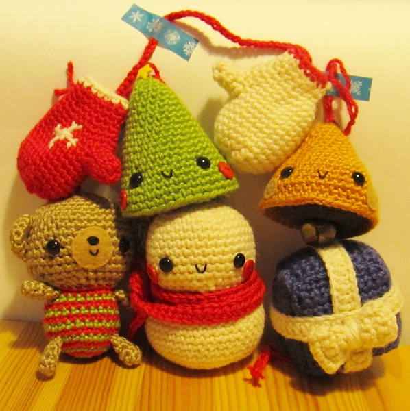 NEW Xmas Tree Ornaments - amigurumi crochet pattern PDF Digital Download