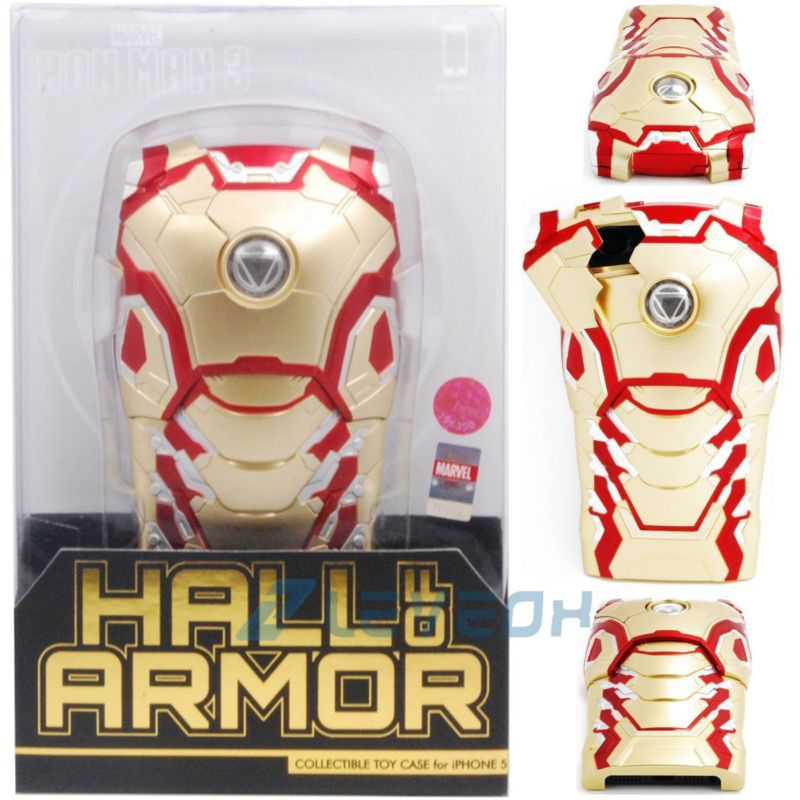钢铁侠MK42龙虾手机壳 Marvel Iron Man Mark XLII w/ LED Light Armor Case for iPhone 5 5s的图片