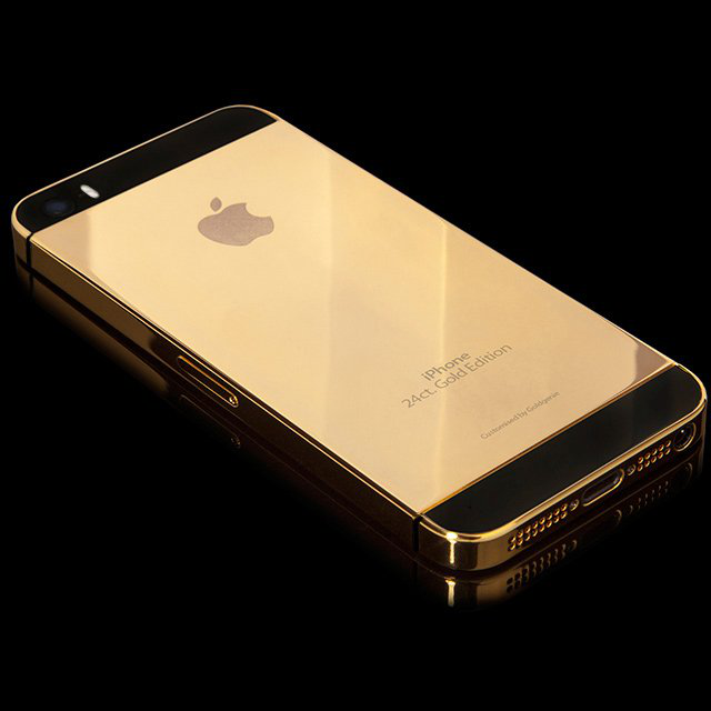 24-Karat Solid Gold iPhone 5S by Goldgenie - $3290
