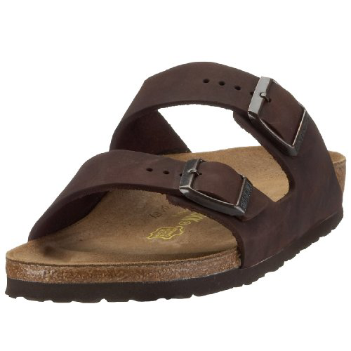 Birkenstock Arizona Natural Leather, Style-No. 52533, Unisex Clogs, Habana, EU 36, slim width的图片