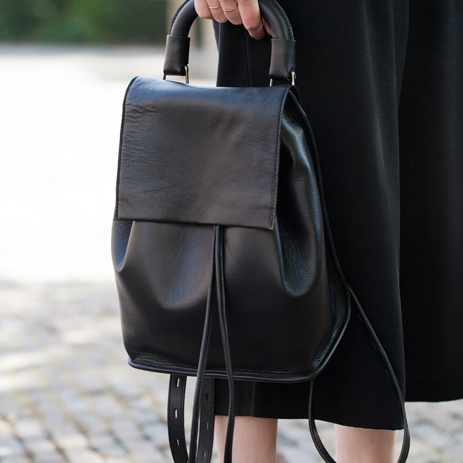 Clean Leather Backpack by Topshop - $160