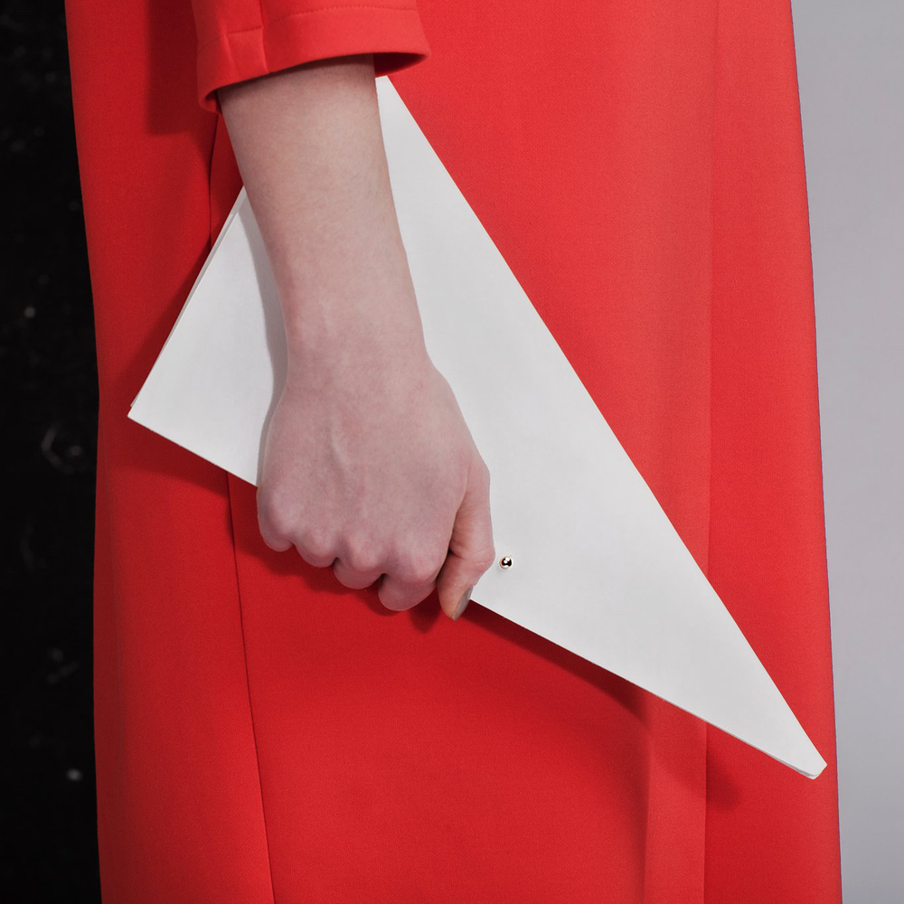 Triangle Folded Clutch by Clean Everything - $95 三角折叠手包