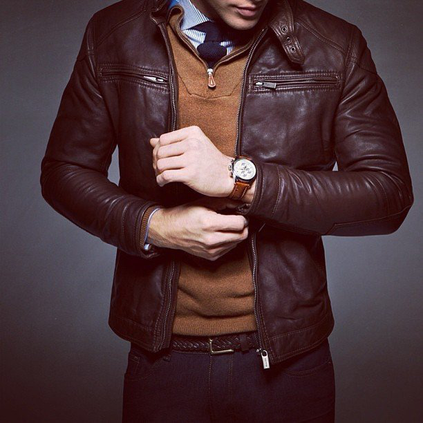 Nappa Leather Jacket by Massimo Dutti - $370