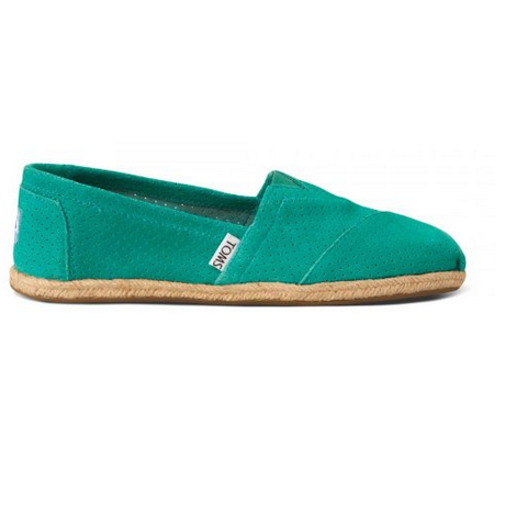 TOMS Women's Canvas Slip-On,spectra green