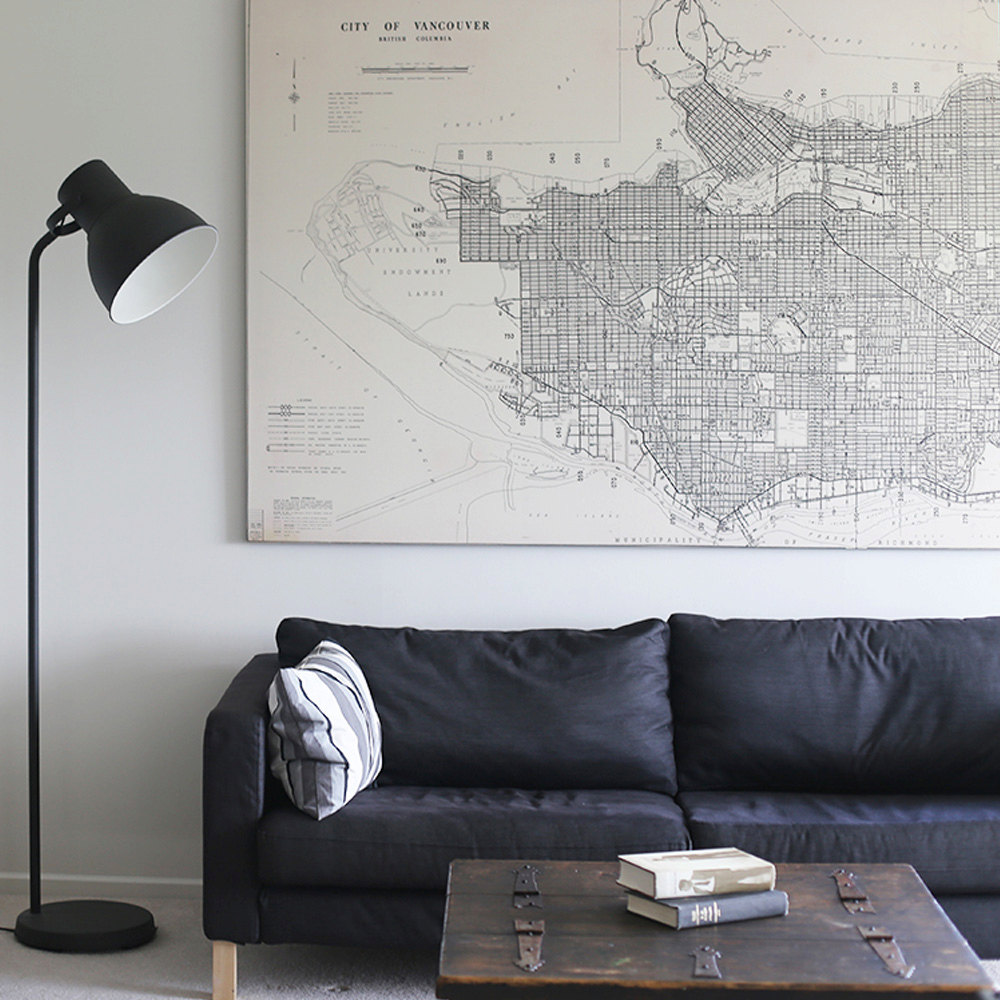 "【复古地图】58"" x 38"" - Vintage Maps, Large Print of Map of Vancouver的图片"