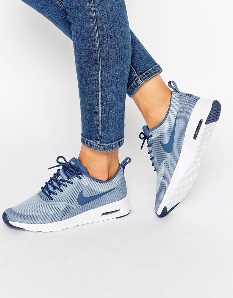 Nike Blue & Grey Air Max Thea Textured Trainers的图片