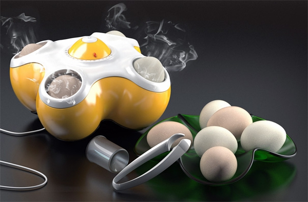 Bang Bang Egg Toaster For Steaming Eggs by Lo Chi Di » Yanko Design的图片