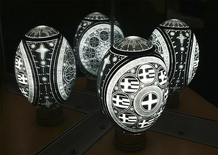 Greek carved egg lights的图片
