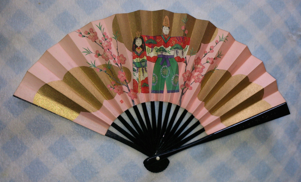 Japan festival hina maturi sensu fan !!! 1994 Good condition !!! Japan Classic Fan的图片