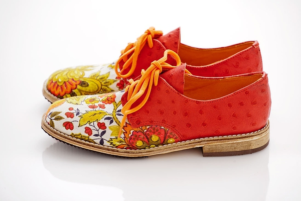 Dragon Flower Oxfords - Custom Made的图片