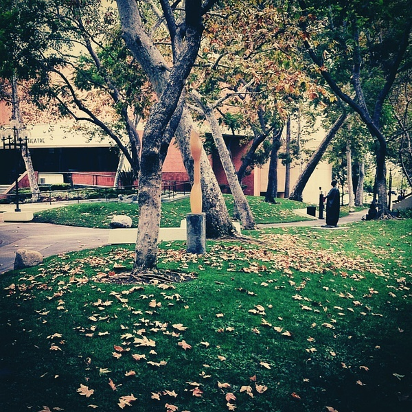 """In an Autumn Garden,"" photo taken in Queens Courtyard at USC, on 4 Aug, 2012."