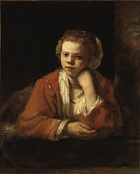 图18,Rembrandt  Young Girl at the Window,
