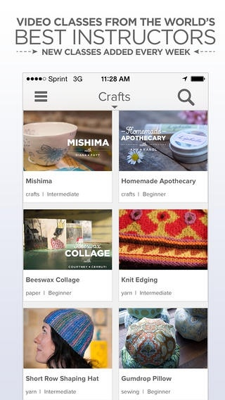 Creativebug – Top designers and crafters teaching world class workshops. (iPhone / iPad)应用截图_1