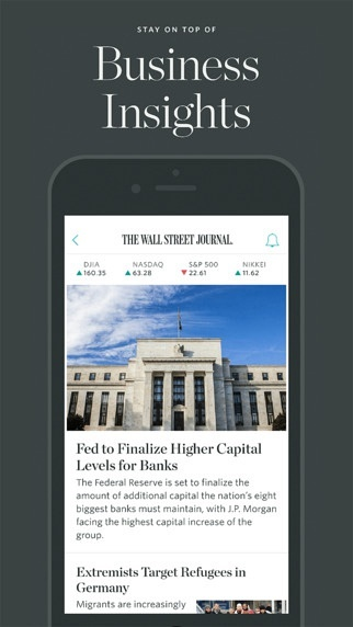 The Wall Street Journal – Breaking news headlines, stock market updates & financial coverage, plus business analysis. (iPhone / iPad)应用截图_1