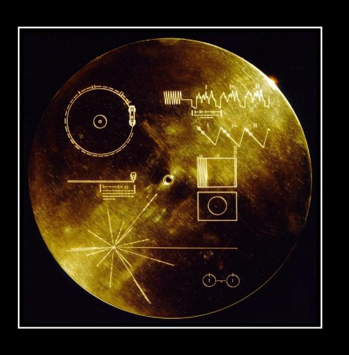 Nasa Voyager Golden Record - The Golden Record. Greetings and Sounds of the Earth.